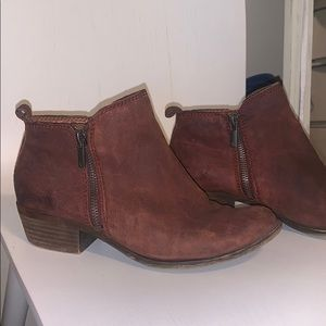 Maroon Lucky Brand booties. Size 7. Open to offers